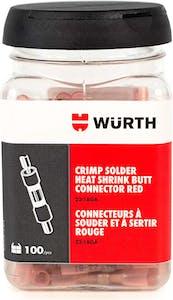LTD TIME-CRIMP SOLDER HS BUTT RED 22-18G JAR