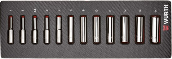 1/4 inch socket wrench assortment-long