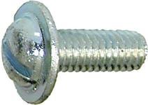 LIC PLT SCR RND+W SL ZN M6-1.0x16mm