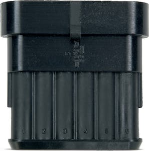 TE SUPERSEAL 1.5 SERIES PIN HOUSING 6 WIRE