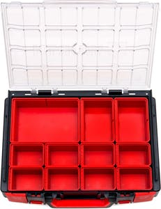 SYSTEM CASE 4.4.1 CLEAR W/11PC BOXES