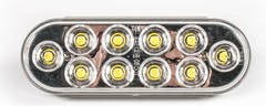 """LED LIGHT OVAL 6-1/2"""" CLEAR 10 DIODE"""