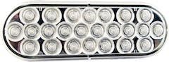 """LED LIGHT OVAL 6-1/2"""" CLEAR 24 DIODE"""