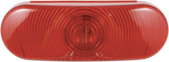 """INCANDESCENT OVAL SEALED LAMPS 6.5"""" RED"""