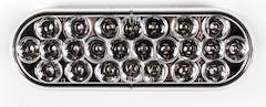 """LED LIGHT OVAL 6-1/2"""" CLEAR/AMBER 24 DIODE"""