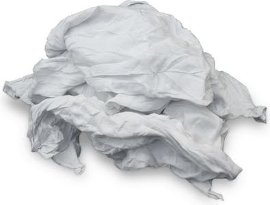 RECYCLED WHITE T SHIRT RAGS 25 IBS