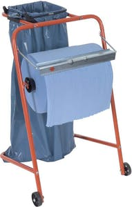 WHEELED RACK FOR CLEANING PAPER