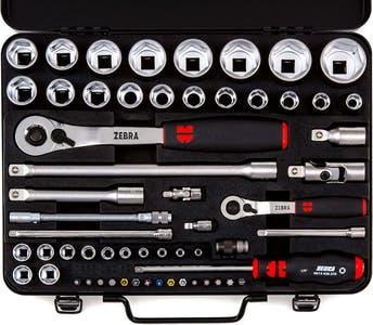 Socket wrench 1/4+1/2 inch assortment 59 pieces