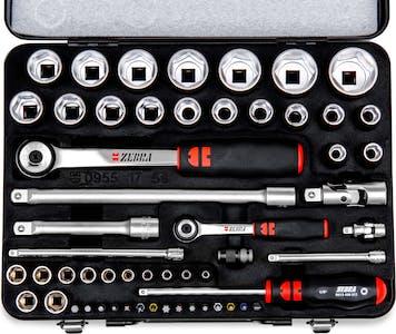 1/4 inch  1/2 inch socket wrench assortment 56 pcs