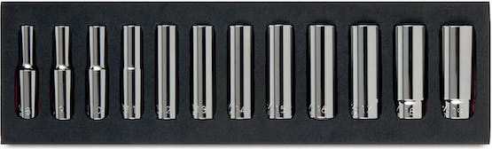 3/8 inch socket wrench assortment-long-12pc