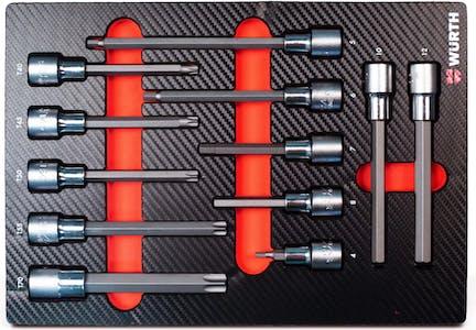 System assortment 4.4.1- TX socket wrench 1/2 inch 12 pcs