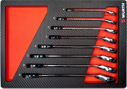 Multi ratchet combi wrench set 4.4.1- 8 pcs