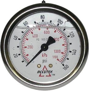 PG-160CG25 LIQUID GAUGE 2.5DIAL 160PSI 1/4MPT