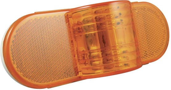 """MID TURN LAMP 6-1/2"""" AMBER 9 DIODE"""
